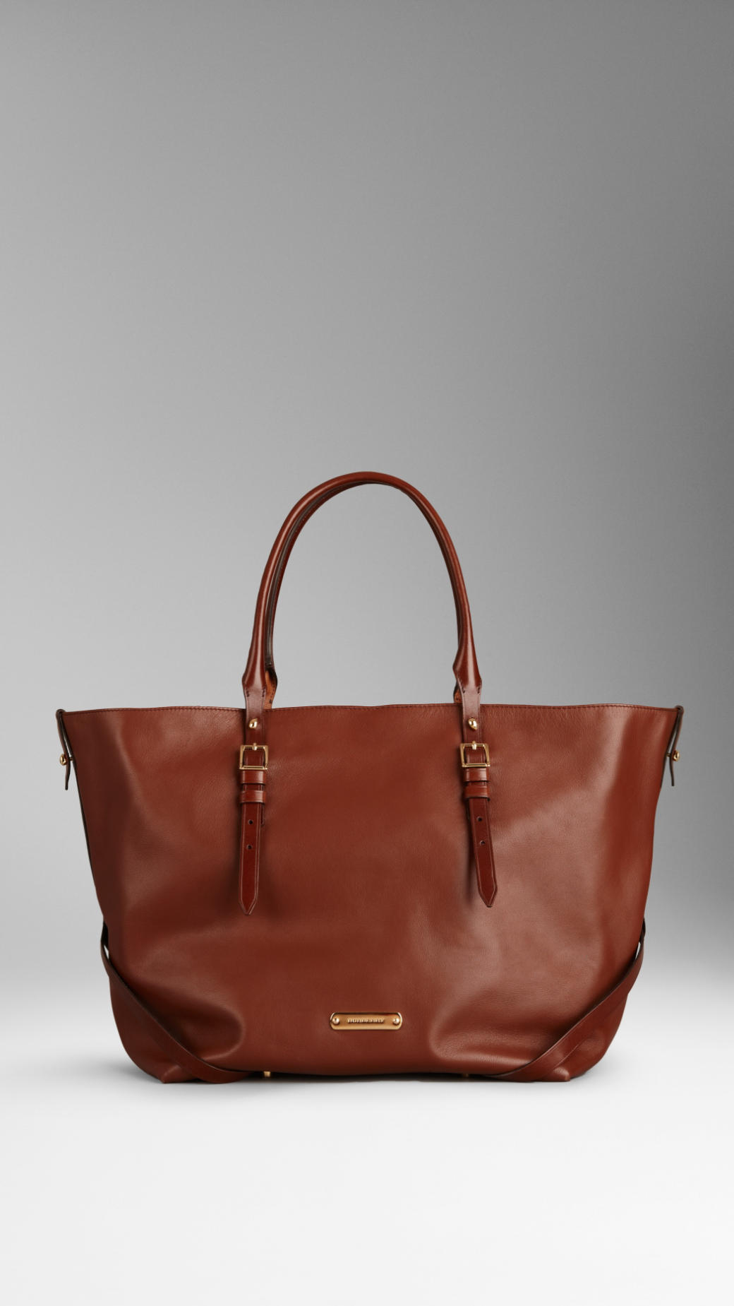 3a65e45a001a Lyst - Burberry Medium Nappa Leather Tote Bag in Brown
