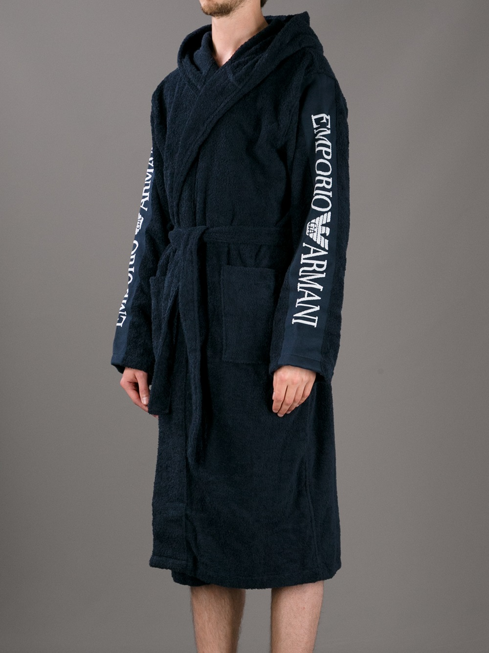 cd05b8b3bb Emporio Armani Logo Robe in Blue for Men - Lyst