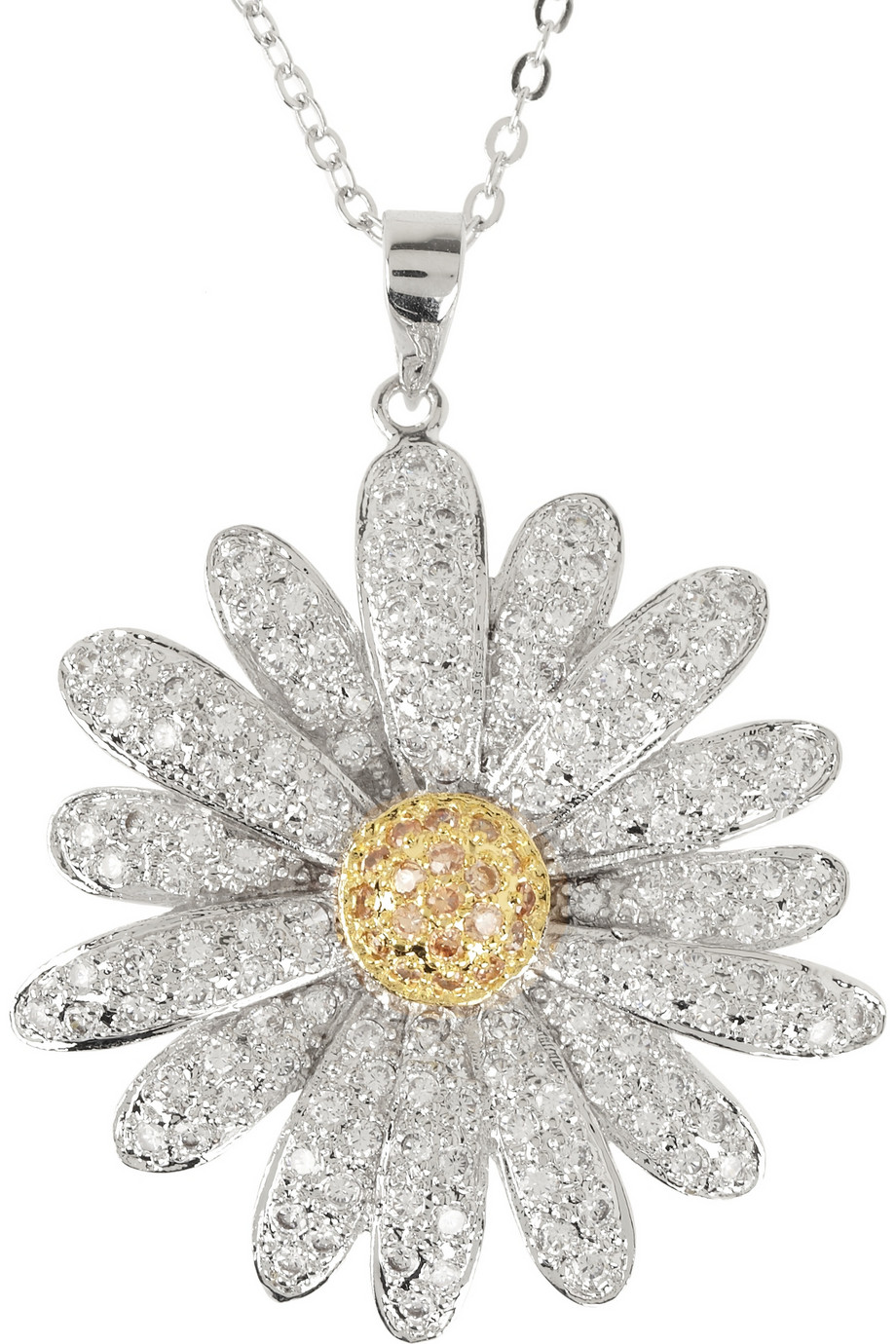 necklaces with white plated daisy jensen pendant enamel jewellery image gold georg