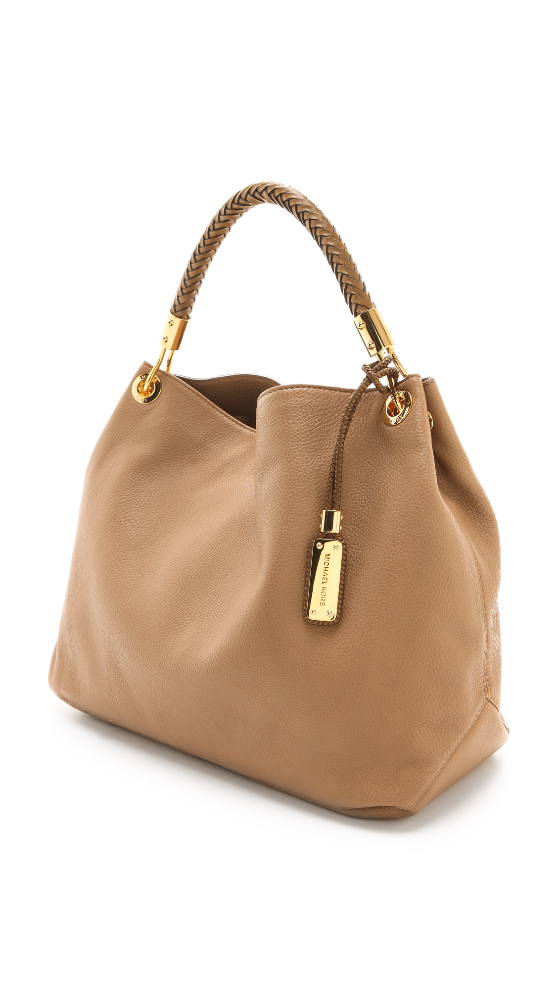 233b37a3fe78 Michael Kors Skorpios Large Shoulder Bag in Brown - Lyst