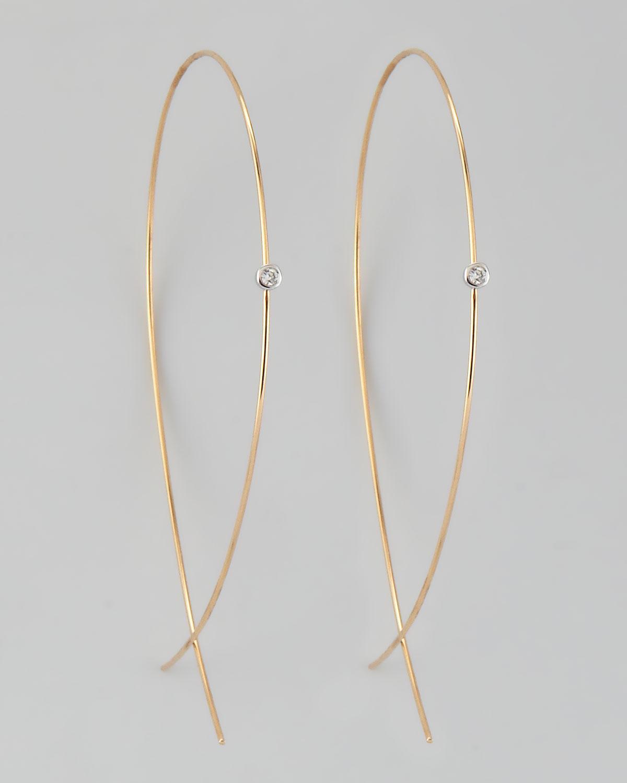 d795a482cc9cc Lana Upside Down Diamond Hoop Earrings - Best All Earring Photos ...