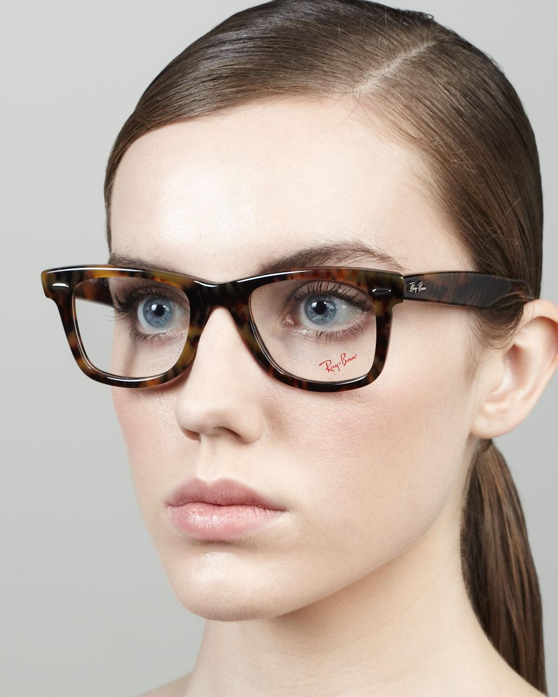 Ray-Ban Wayfarer Fashion Glasses in Brown for Men - Lyst
