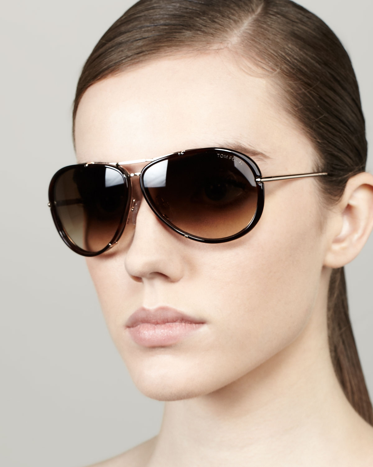 Lyst Tom Ford Cyrille Aviator Sunglasses In Brown For Men