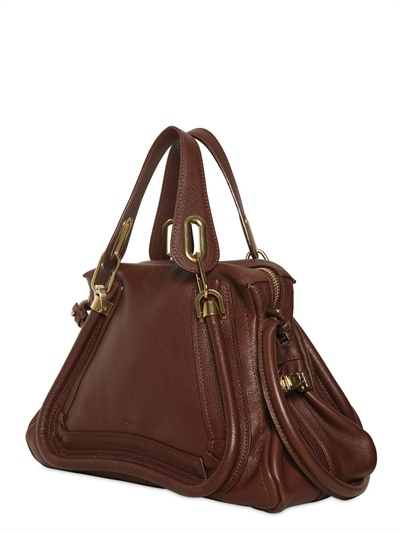 Chlo¨¦ Medium Paraty Grained Leather Bag in Brown (coffee shot) | Lyst