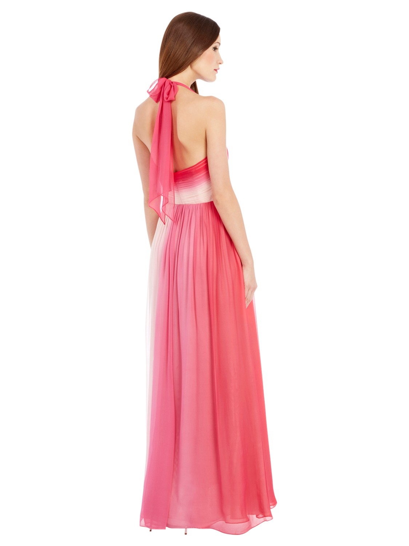 Coast dip dye maxi dress pink