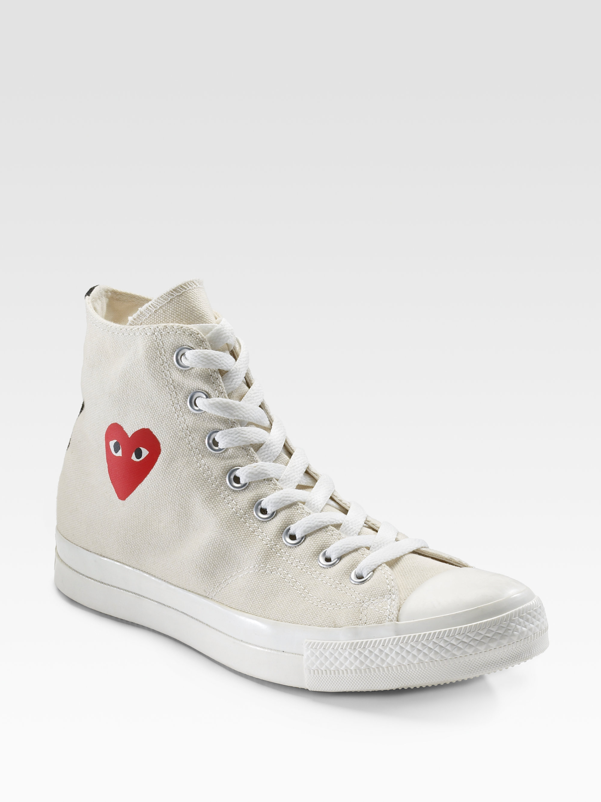 c8e61dfe498d Lyst - Play Comme des Garçons High-top Canvas Sneakers in White