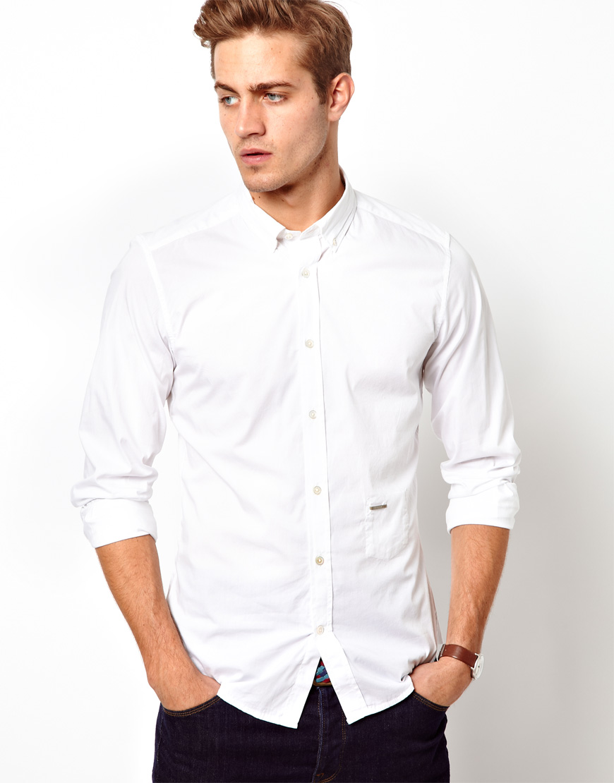 Paul smith Diesel Shirt Button Down Collar Spacificola in White ...