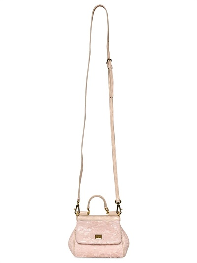 4c170fb6359a Lyst - Dolce   Gabbana Mini Miss Sicily Sequined Shoulder Bag in Pink