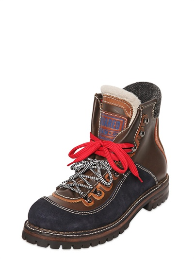 Lyst Dsquared 178 St Moritz Suede Leather Hiking Boots In