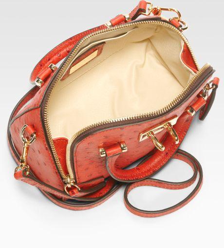 For Saks Fifth Avenue Ostrichembossed Mediterranean Dome Handbag