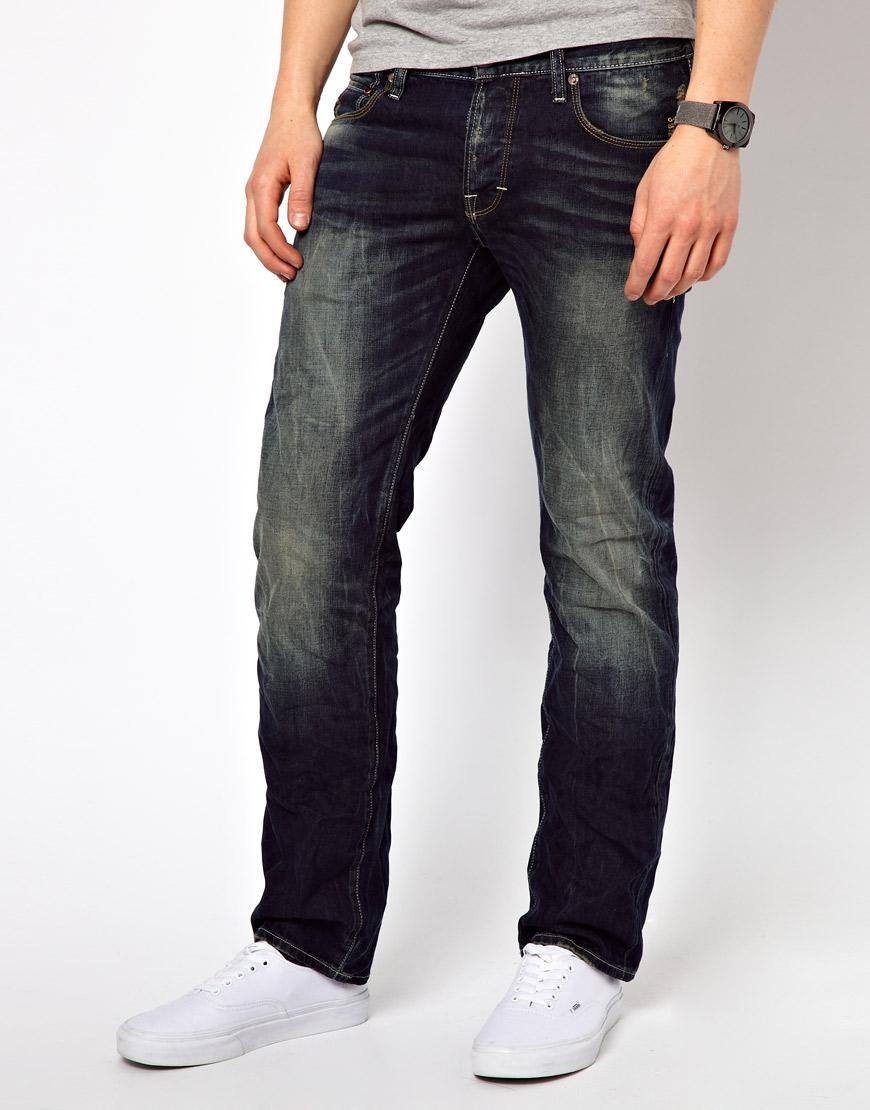 g star raw jeans blade slim cover denim rigid raw in blue. Black Bedroom Furniture Sets. Home Design Ideas