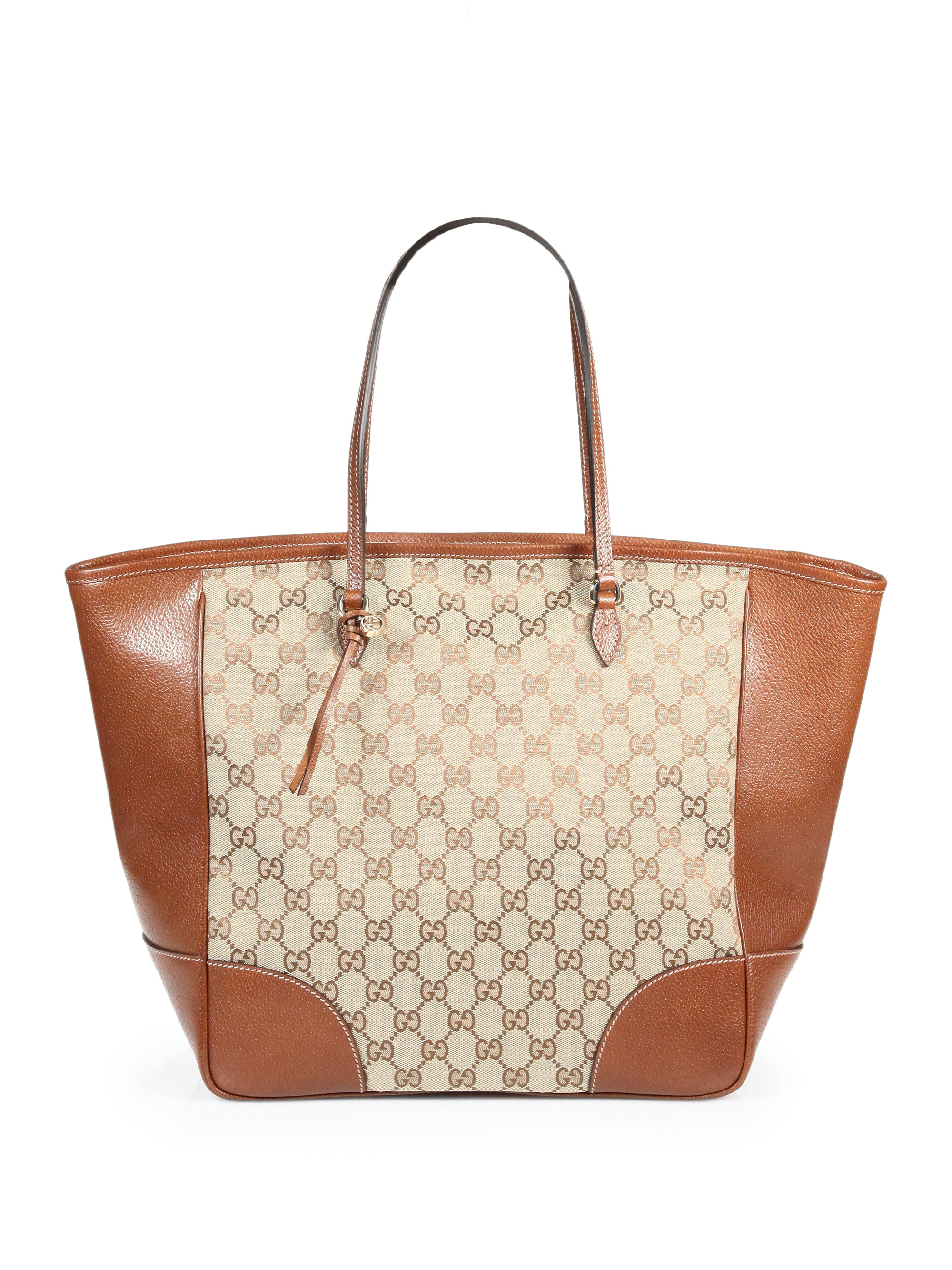 0fc4ea6309a Lyst - Gucci Bree Original GG Canvas Tote in Brown
