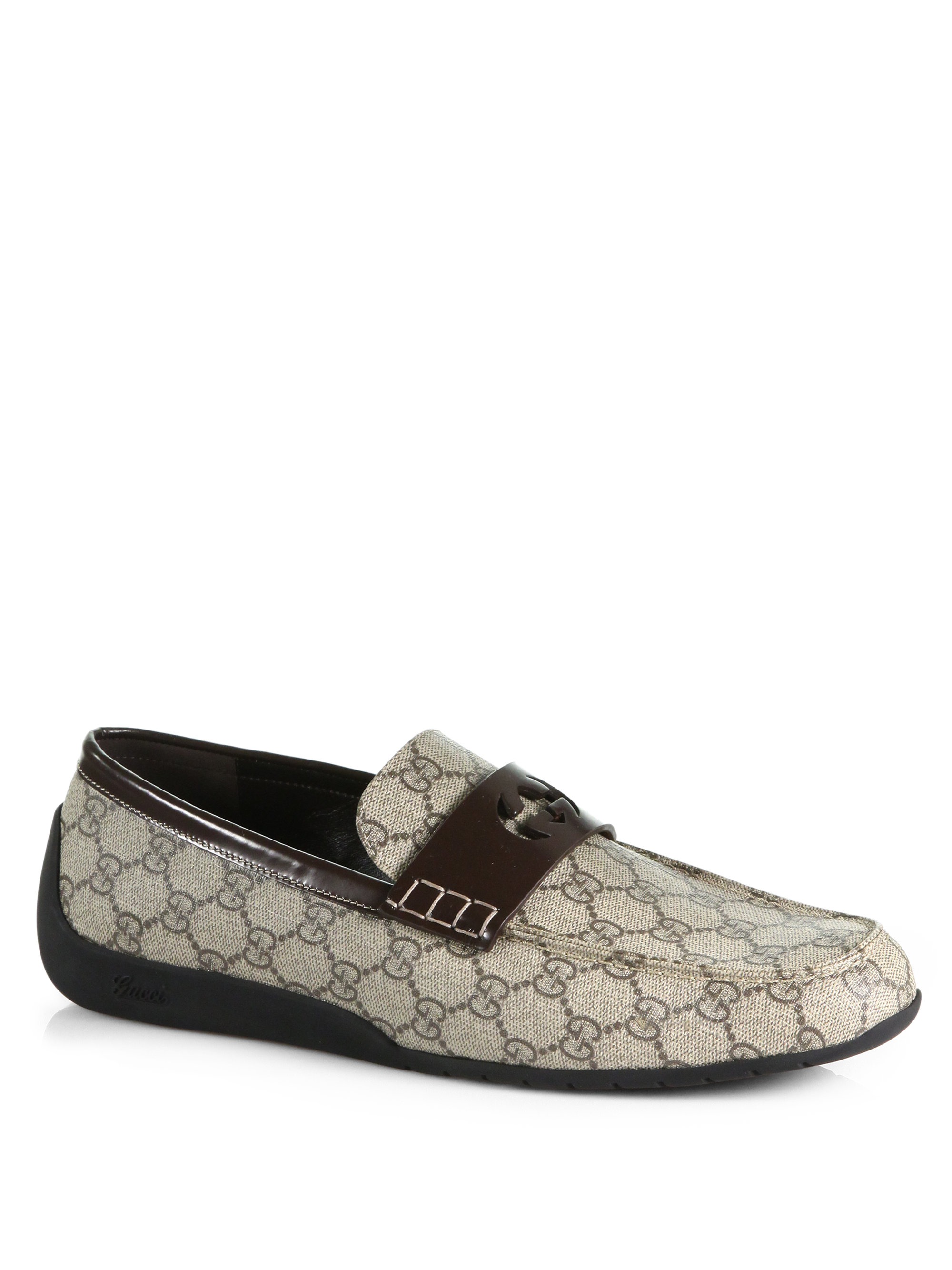 6f7fd477f8a Lyst - Gucci Gg Loafers in Gray for Men