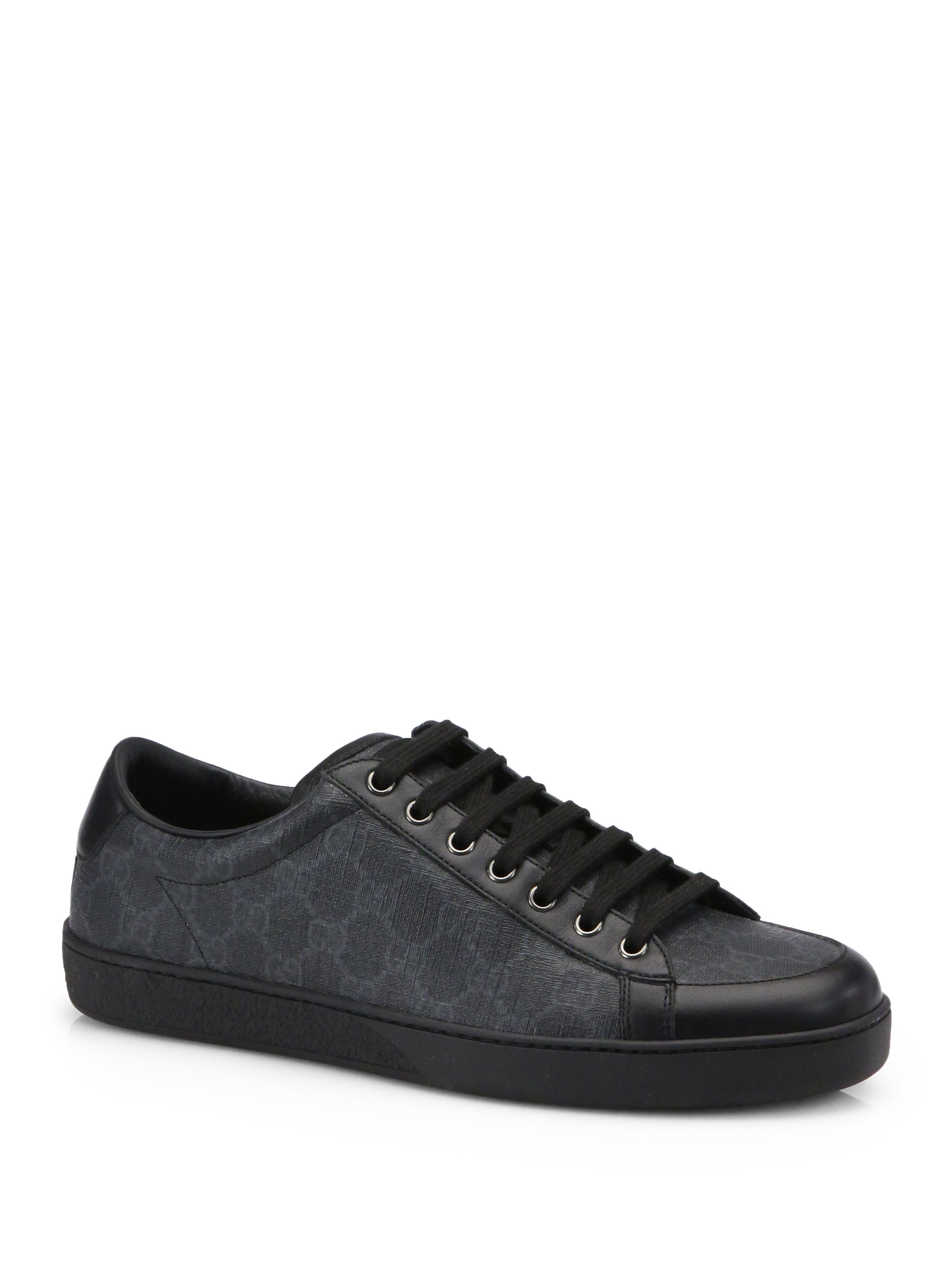 Gucci Brooklyn Gg Lace-up Sneakers in Black for Men