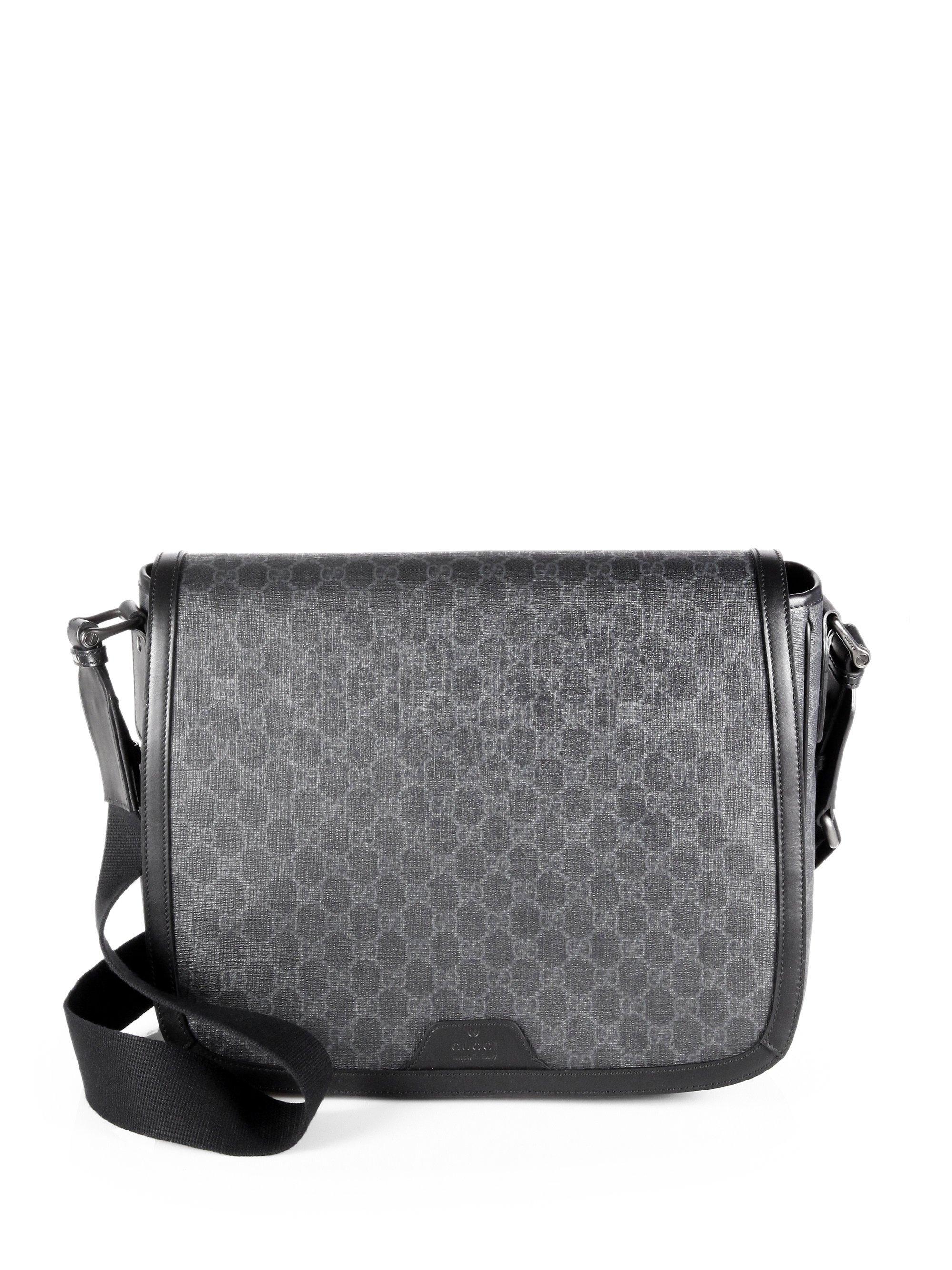 Gucci Gg Messenger Bag in Black for Men (black rose)   Lyst 2a759cb4db