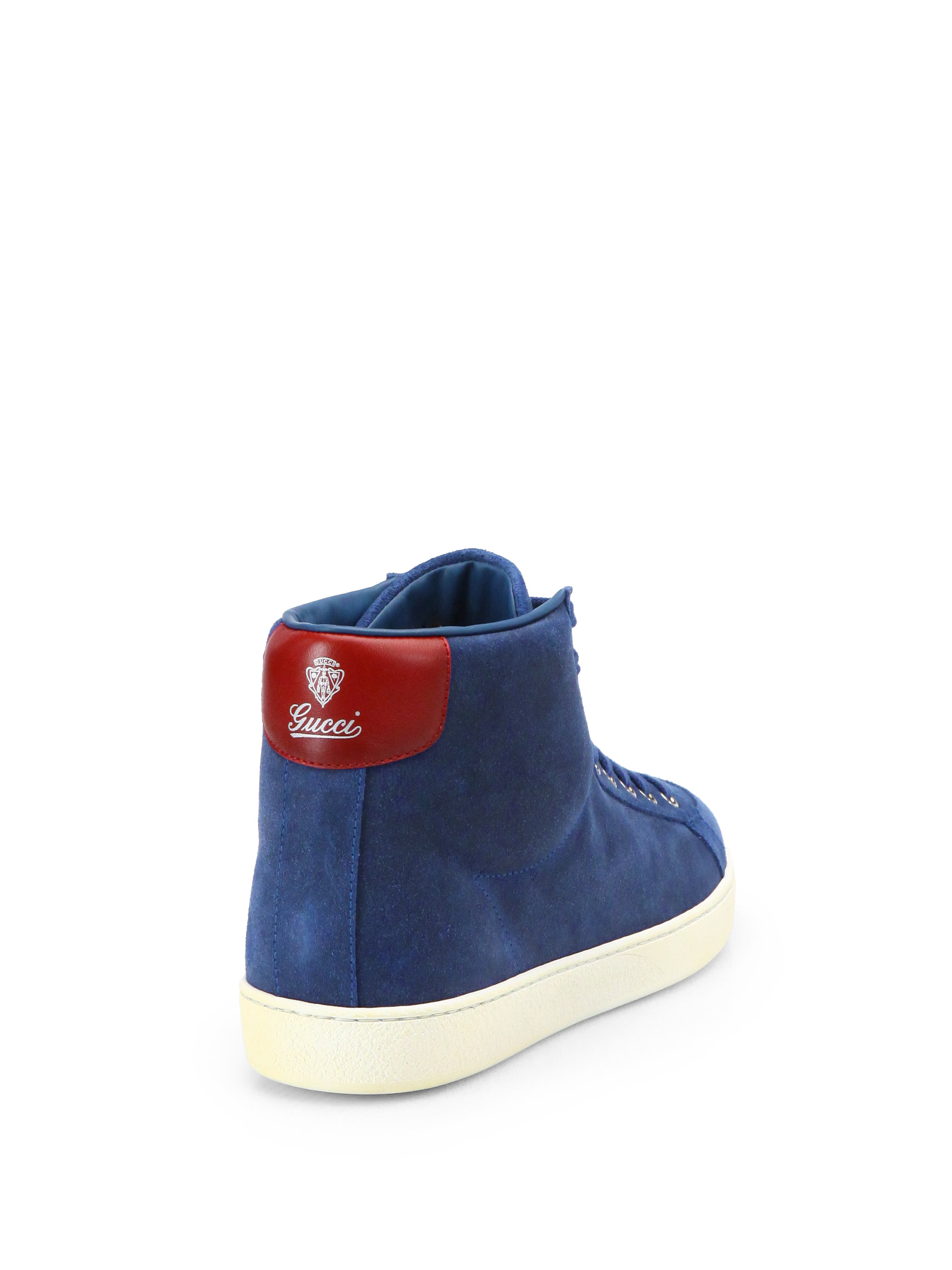 a61a3c48b0c Lyst - Gucci Brooklyn Hightop Sneakers in Blue for Men