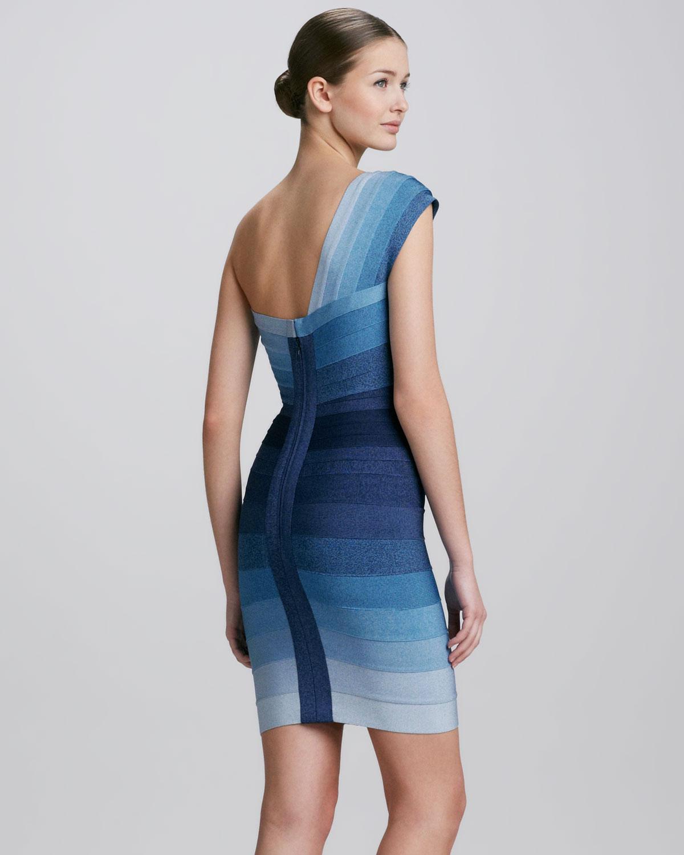 1c3b05a315c Turmec » Herve Leger Blue Sleeveless Bandage Dress