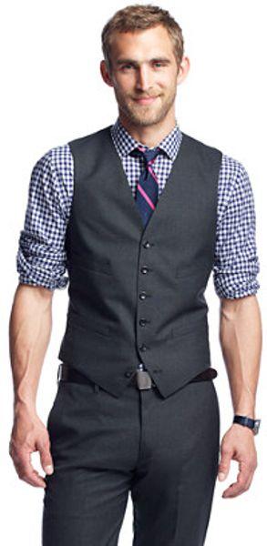 J Crew Ludlow Suit Vest In Italian Wool In Gray For Men