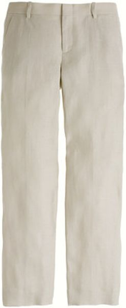 J Crew Collection Sullivan Pant In Irish Linen In Beige