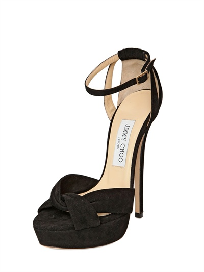 bae4f8d79c2 Lyst - Jimmy Choo Greta Suede Sandals in Black