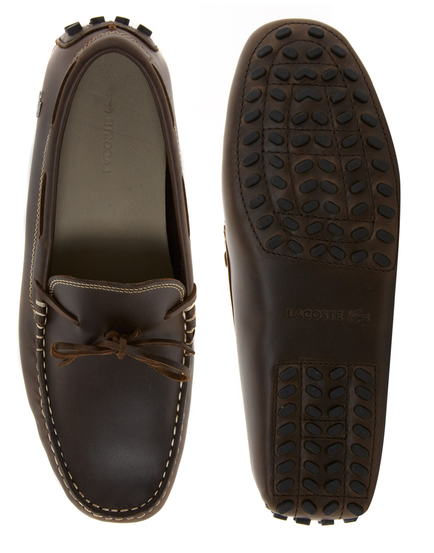5bf7a1db4 Lyst - PUMA Lacoste Concours Driving Shoes in Brown for Men