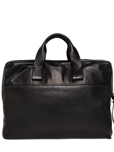 Lanvin Grained Leather Pc Bag In Black For Men Lyst
