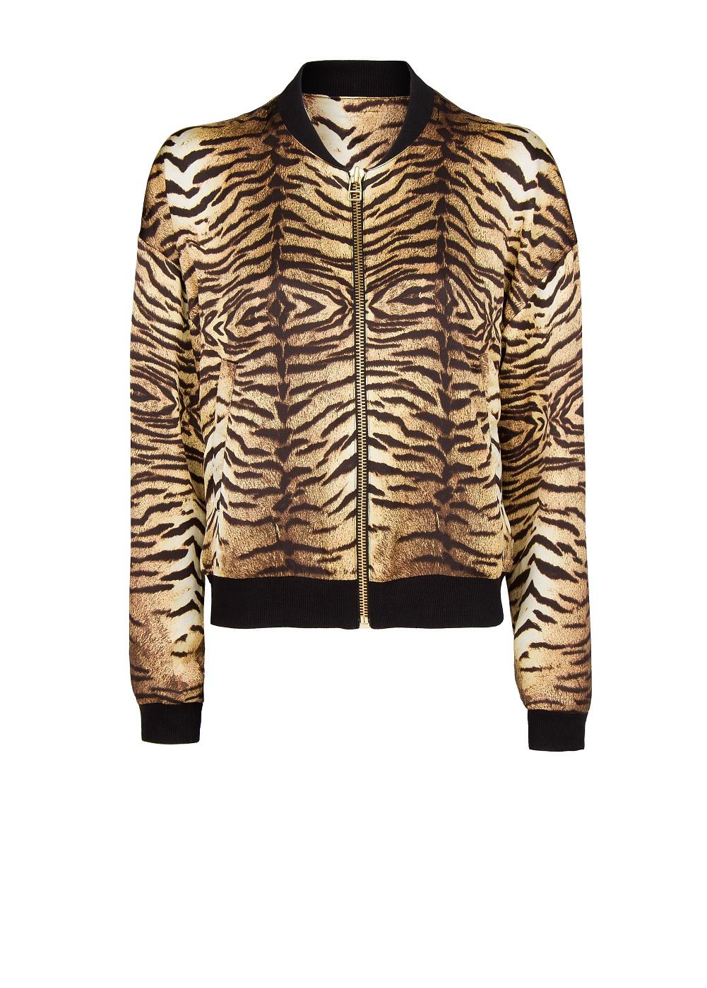 c01b34488121 Mango Animal Print Bomber Jacket in Brown - Lyst