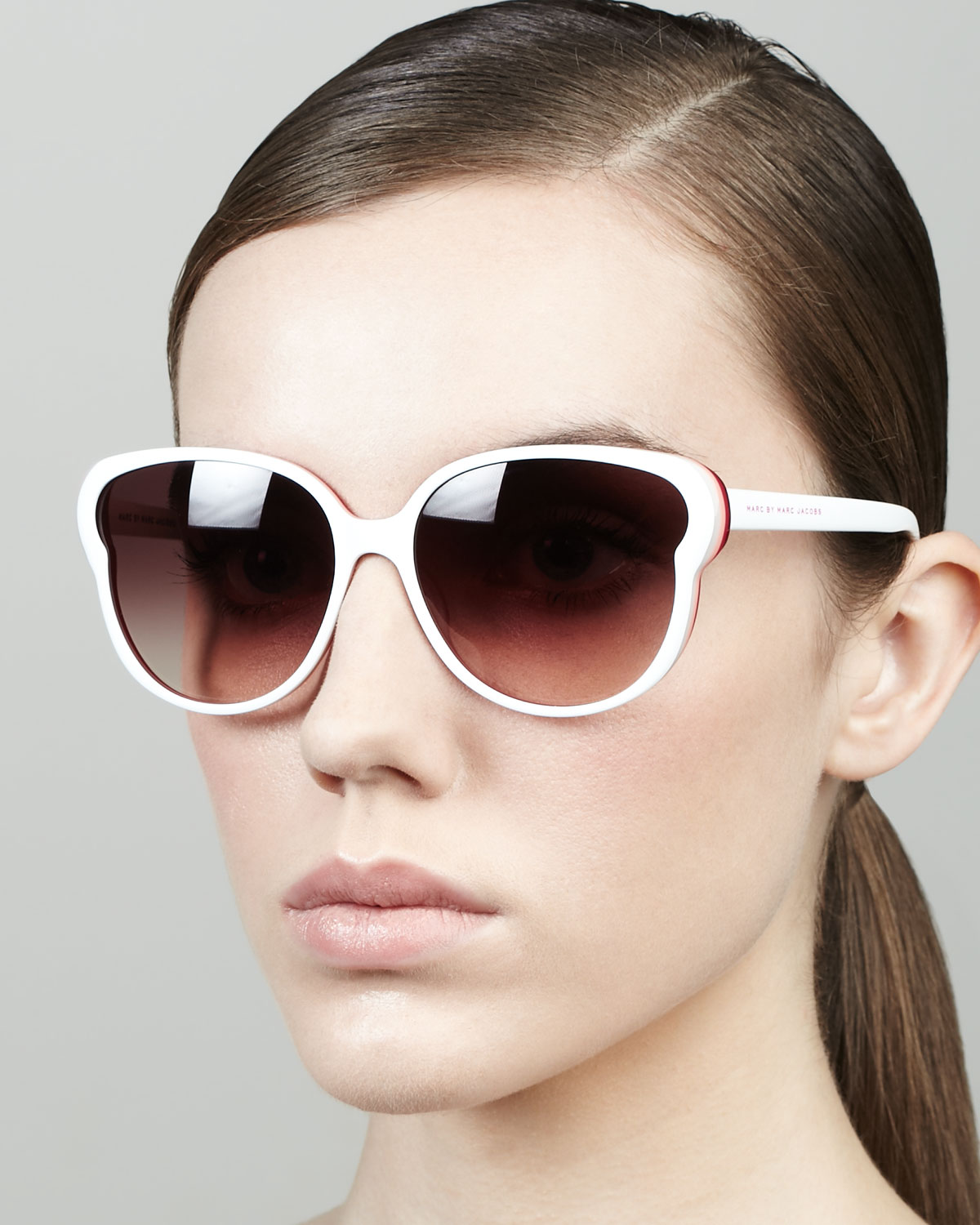7d5a815701 Marc By Marc Jacobs Colorblock Butterfly Sunglasses in White - Lyst