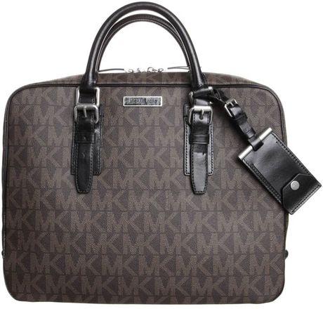 michael kors laptop bag brown in gray brown lyst