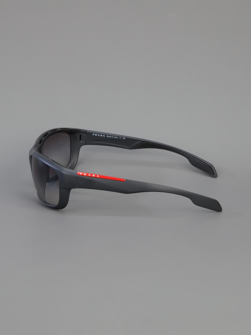fa210a30a502 ... where can i buy lyst prada wrap around sunglasses in gray for men a736f  e62a0
