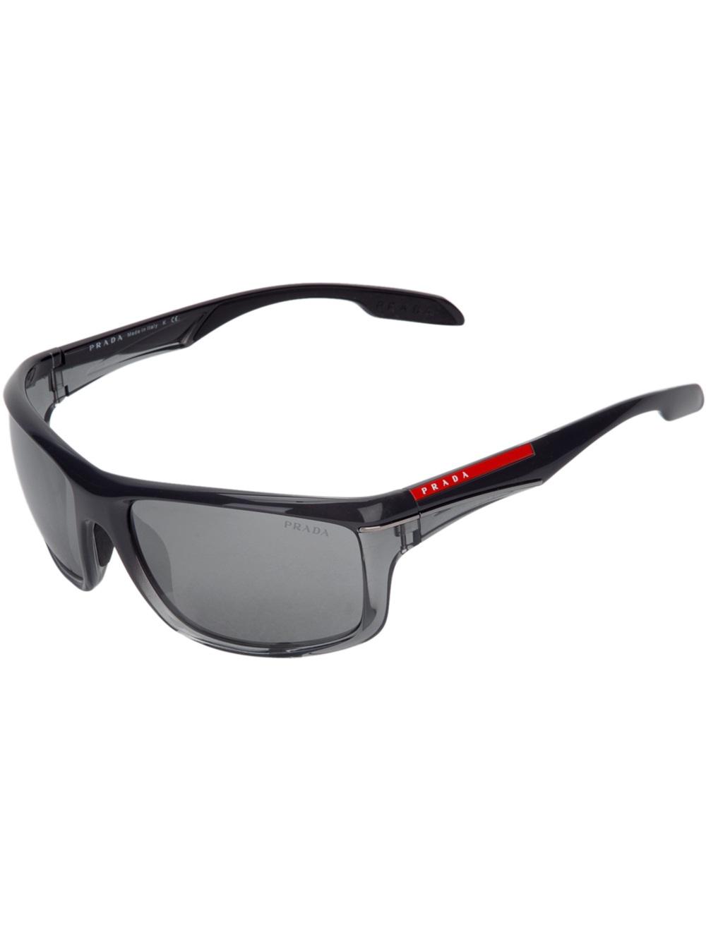 6c7580dd4818 ... reduced lyst prada wrap around sunglasses for men 7ec62 687d4