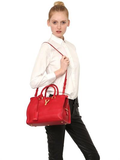 ysl cabas chyc large leather tote - yves saint laurent small cabas monogramme handbag, saint laurent ...