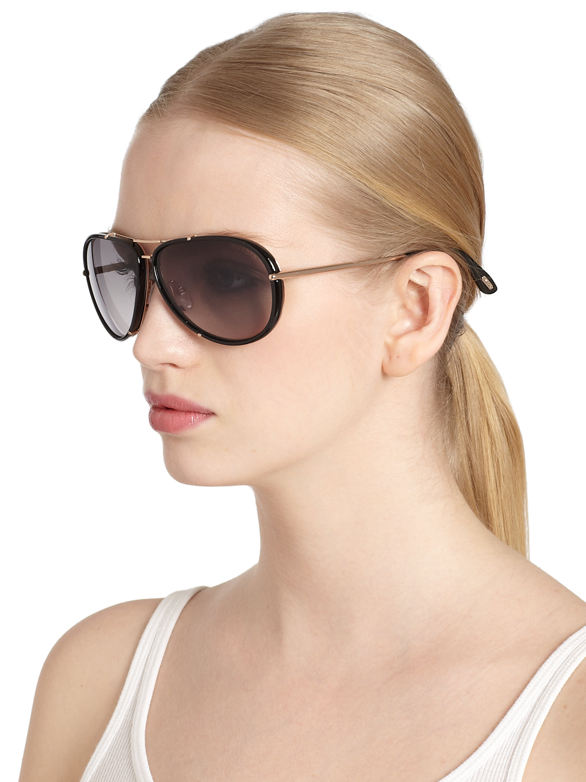 Lyst - Tom Ford Cyrille 63Mm Aviator Sunglasses in Black