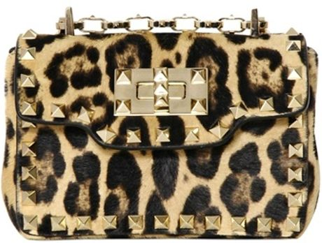 Valentino Leopard Shoulder Bag 75