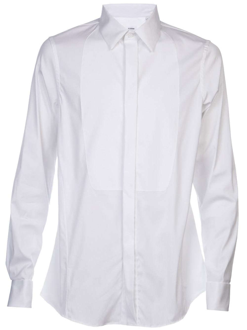 Jil sander tux shirt in white for men lyst for Jil sander mens shirt