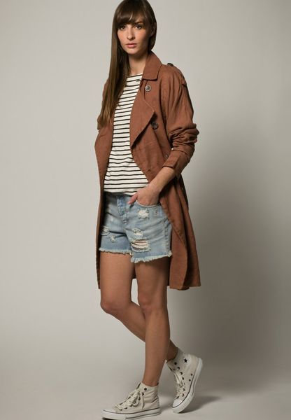 selected femme maddi trench coat brown in brown lyst. Black Bedroom Furniture Sets. Home Design Ideas