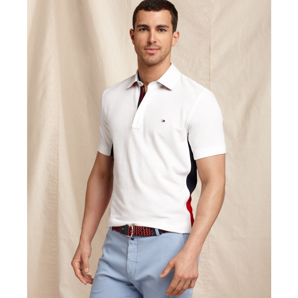 tommy hilfiger slim fit cypress polo in white for men lyst. Black Bedroom Furniture Sets. Home Design Ideas