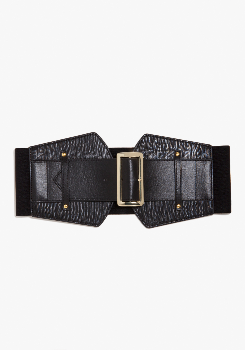 bebe wide snake buckle stretch belt exclusive in