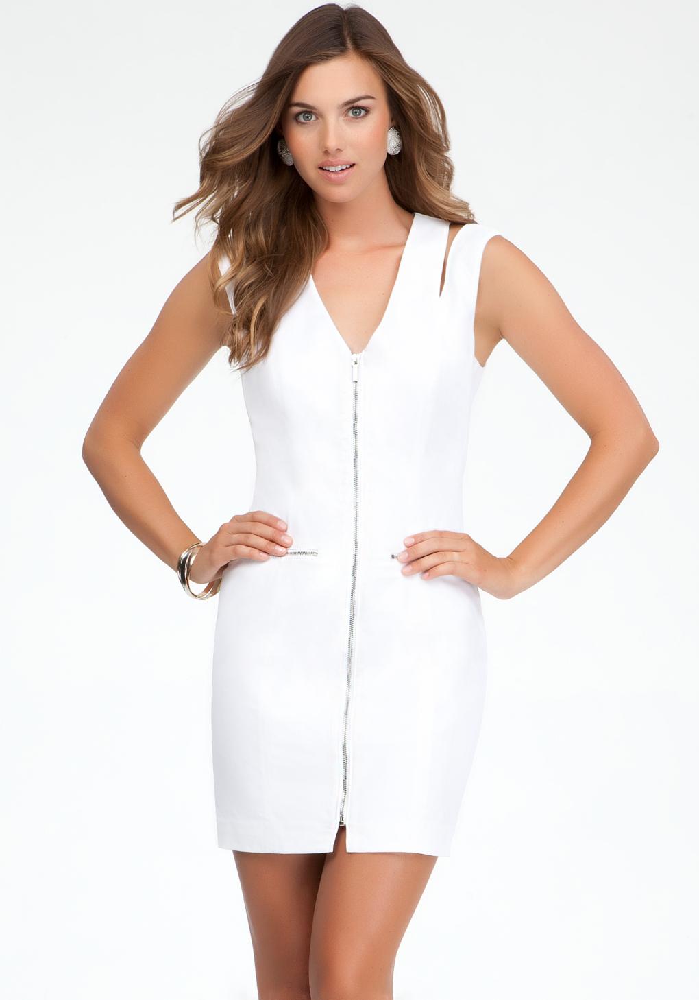 Full Front Zipper Dress - Dress Foto and