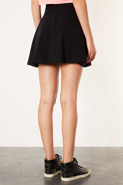 topshop black high waist skater skirt in black lyst