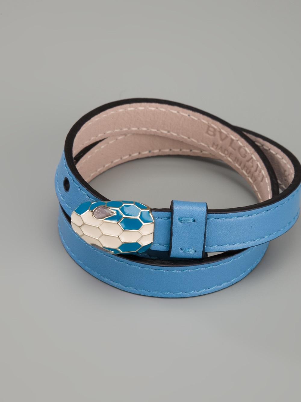 Lyst Bvlgari Snake Head Bracelet In Blue