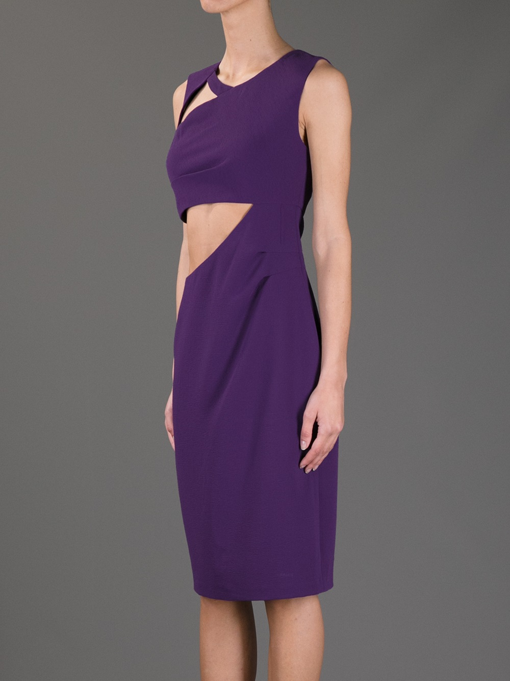 8f382c03f65f Lyst - BCBGMAXAZRIA Cutout Bodycon Dress in Purple