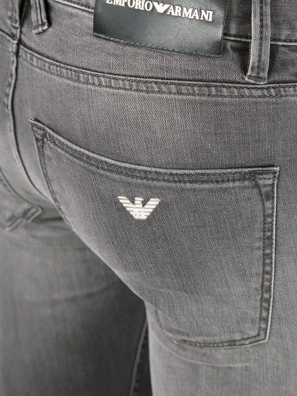 faded skinny jeans - Grey Emporio Armani DmBT4AcsDc