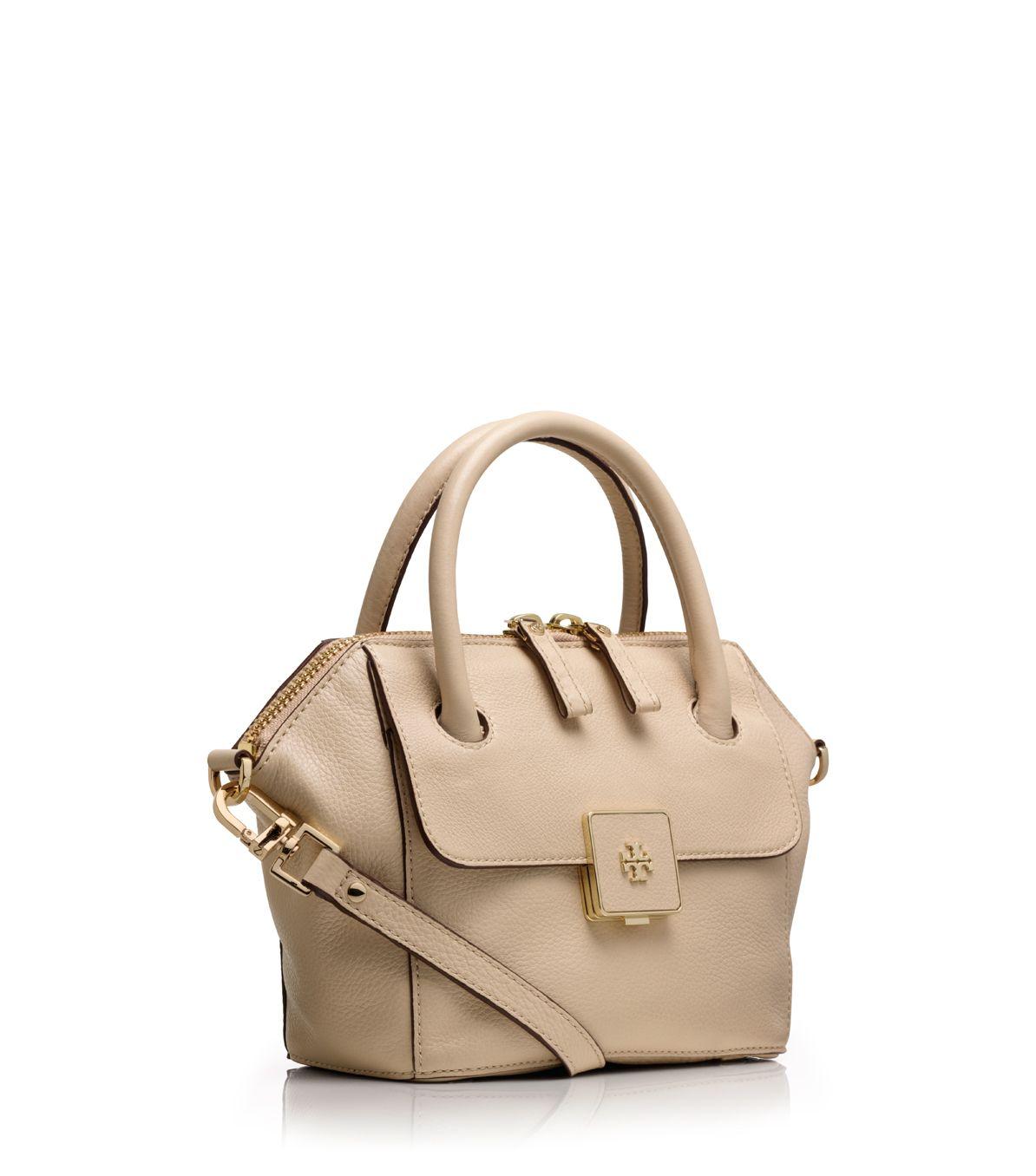 32267950c40 Lyst - Tory Burch Clara Mini Bag in Natural