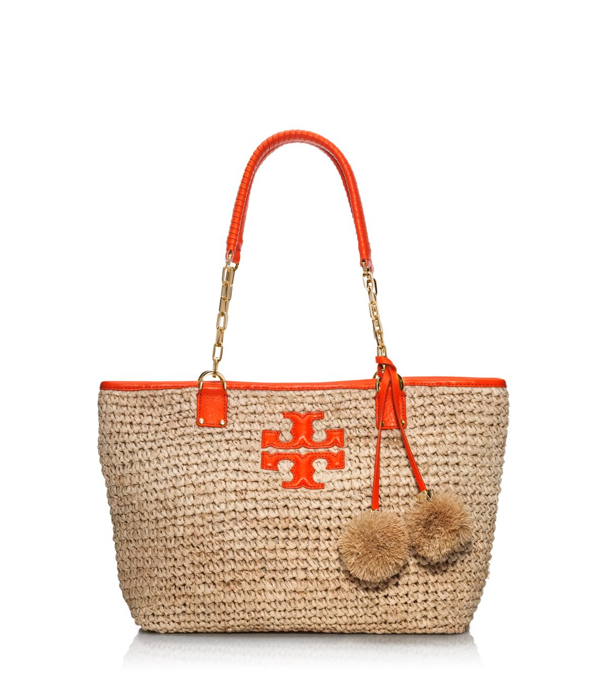81956f03d3c Lyst - Tory Burch Thea Straw Small Tote in Natural