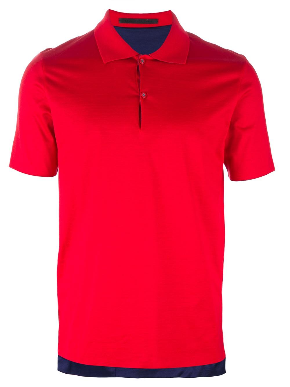 Balenciaga Reversible Polo Shirt In Red For Men Lyst