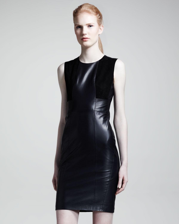 Belstaff Camborne Leather Sheath Dress in Black | Lyst