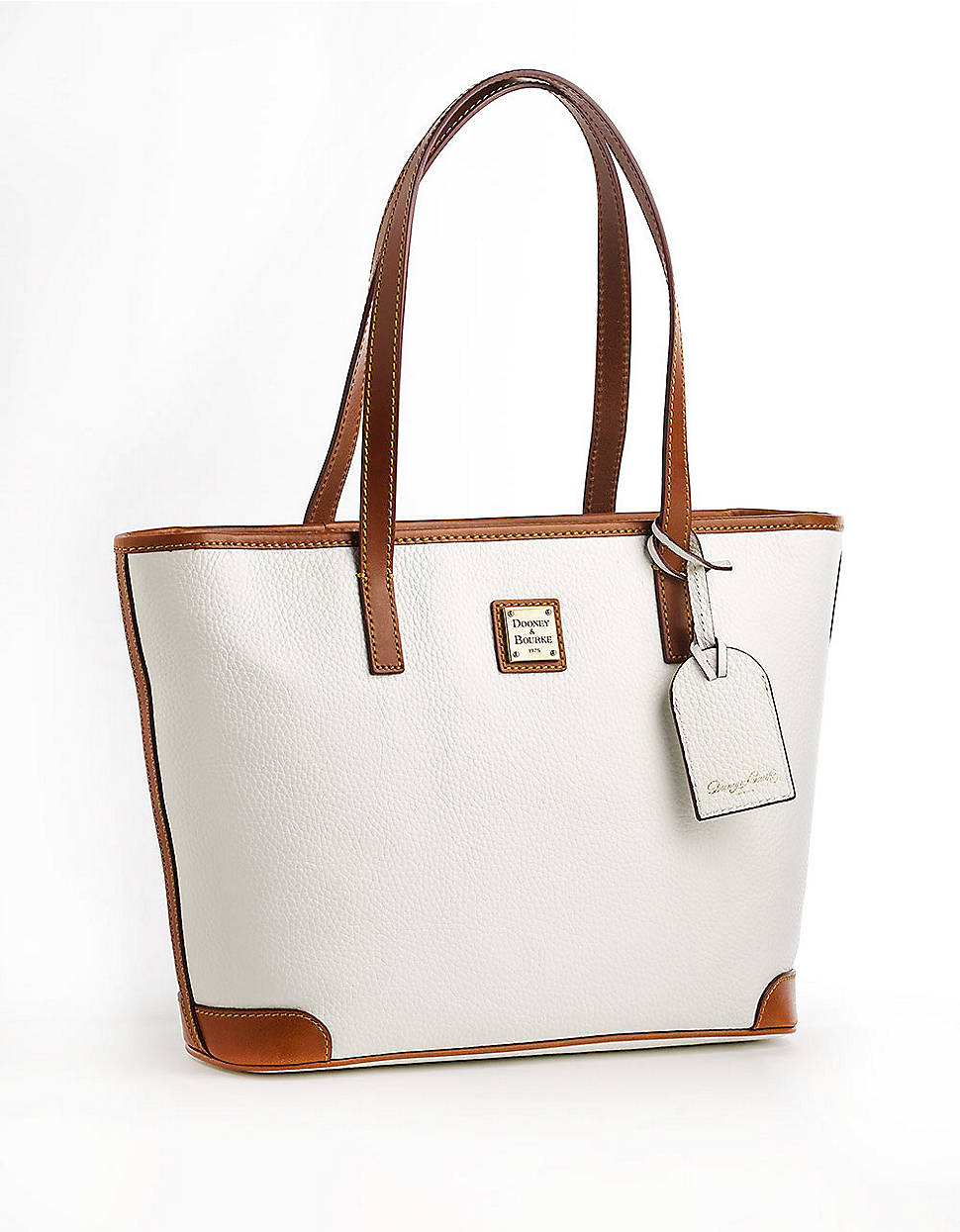 dooney bourke charleston shopper leather tote bag in