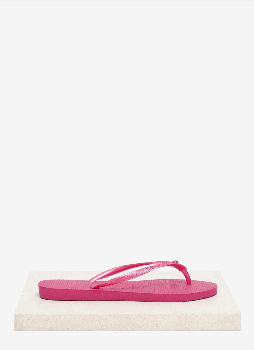 54320bfdd Havaianas Slim Crystal Flip-flops in Pink - Lyst