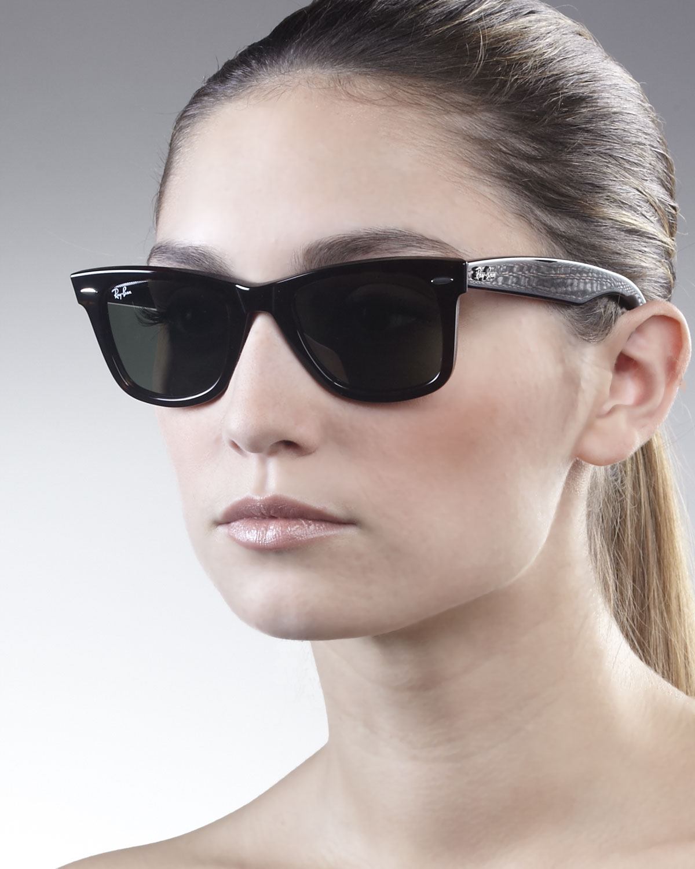 d605e344b ... order ray ban original wayfarer sunglasses tortoise in black lyst 8127f  ca66c